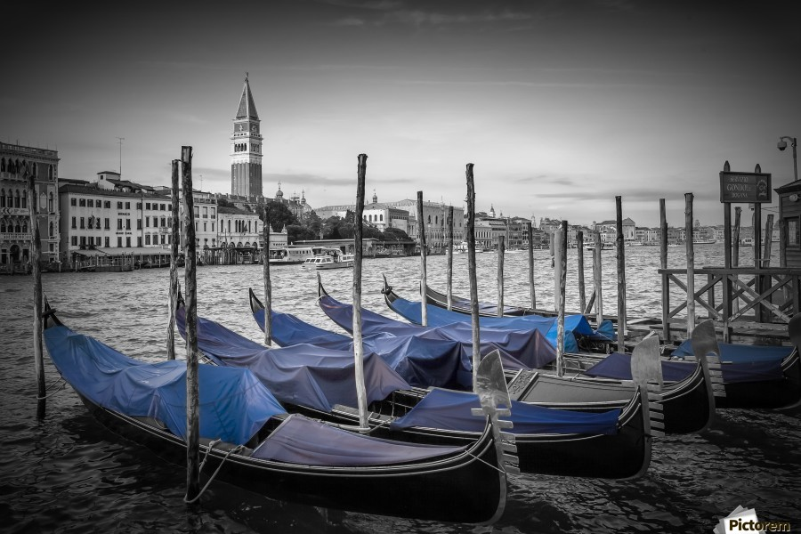 VENICE Grand Canal and St Mark's Campanile  Print