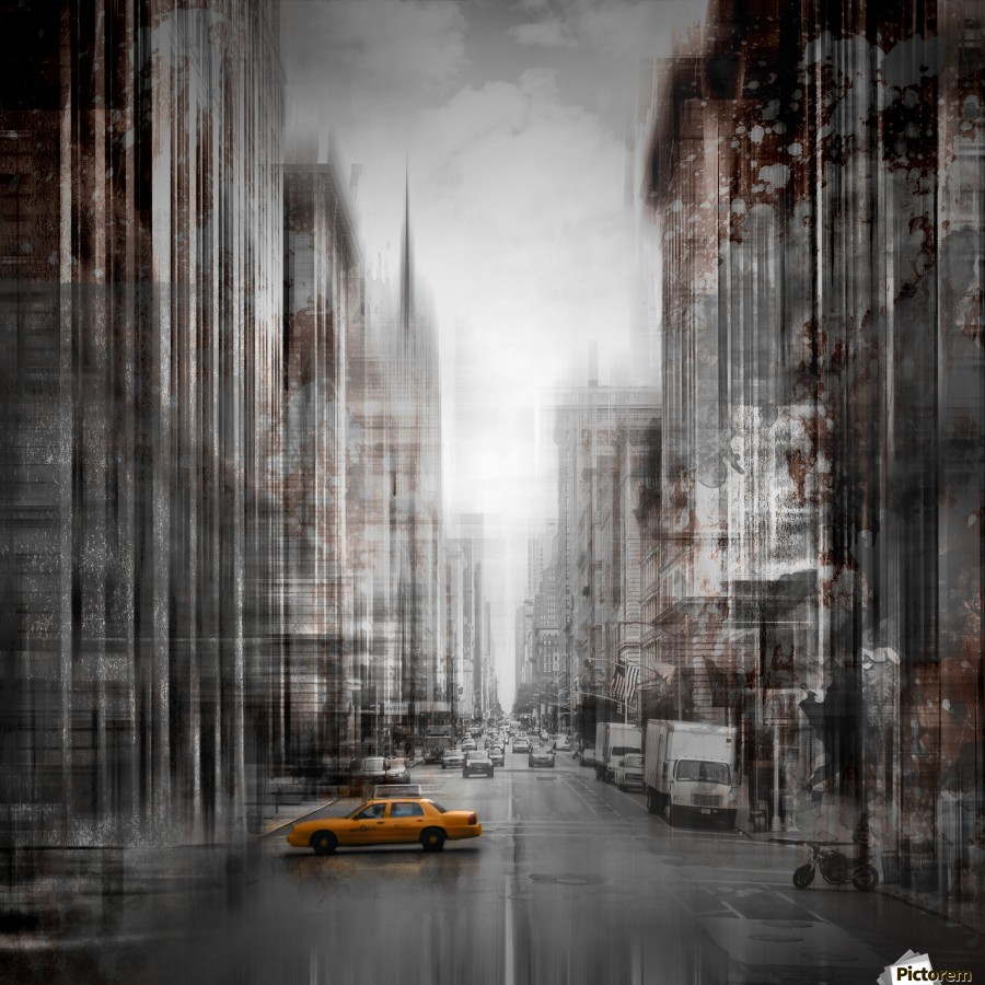 City-Art NYC 5th Avenue  Print