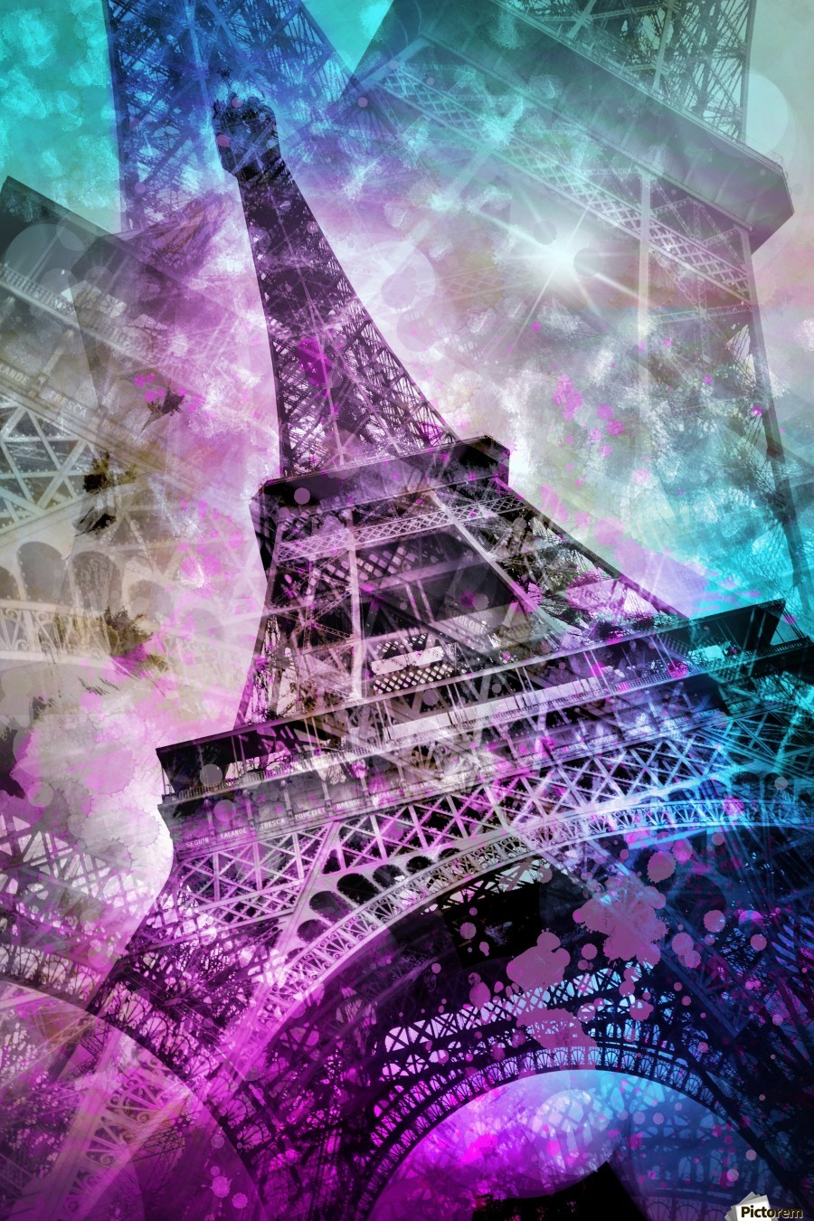 Pop Art Eiffel Tower  Print