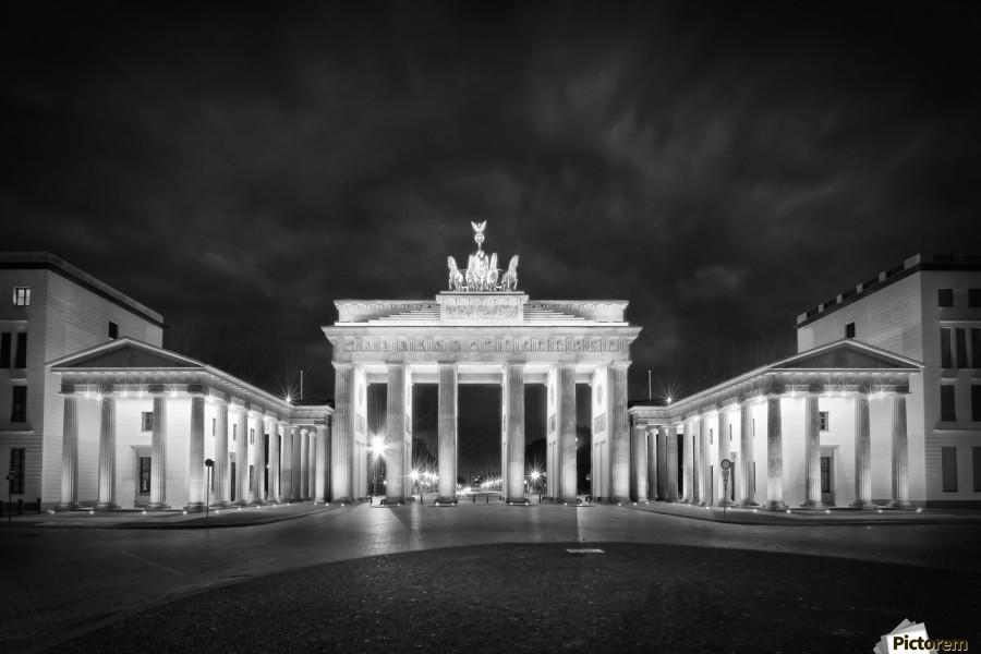 BERLIN Brandenburg Gate | Monochrome  Print