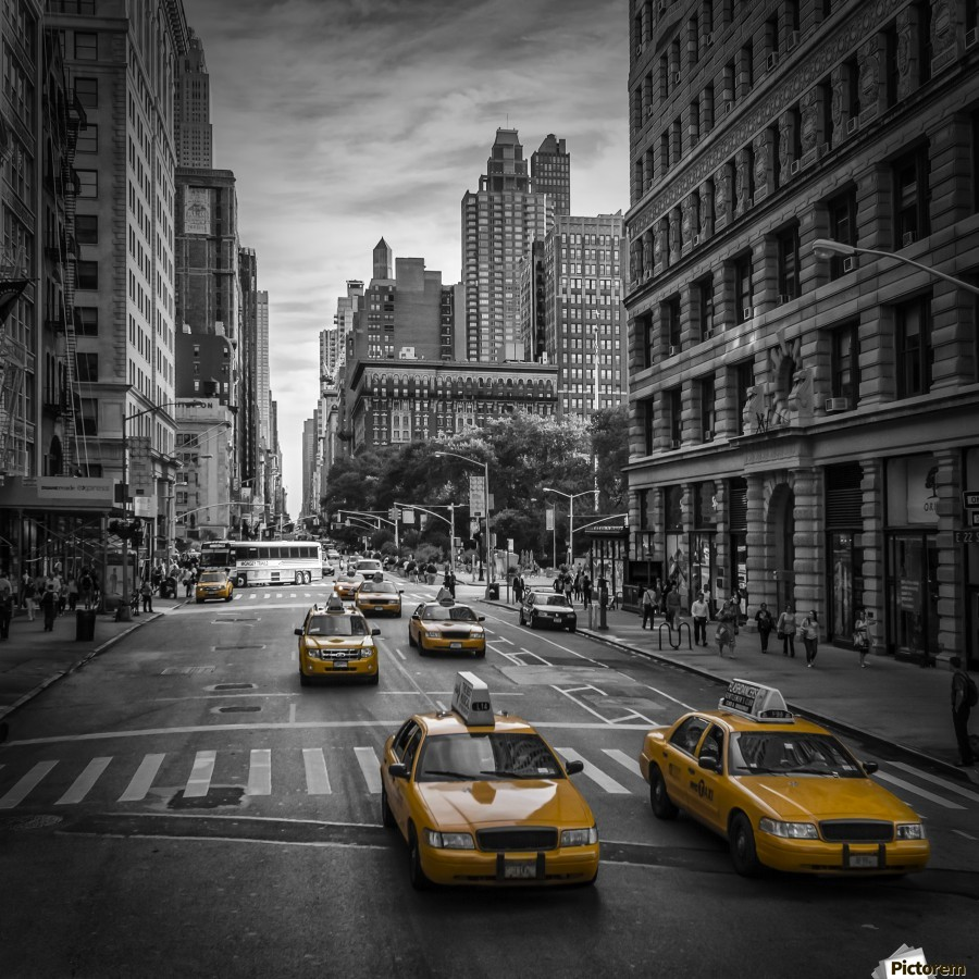 New york city th avenue traffic melanie viola canvas