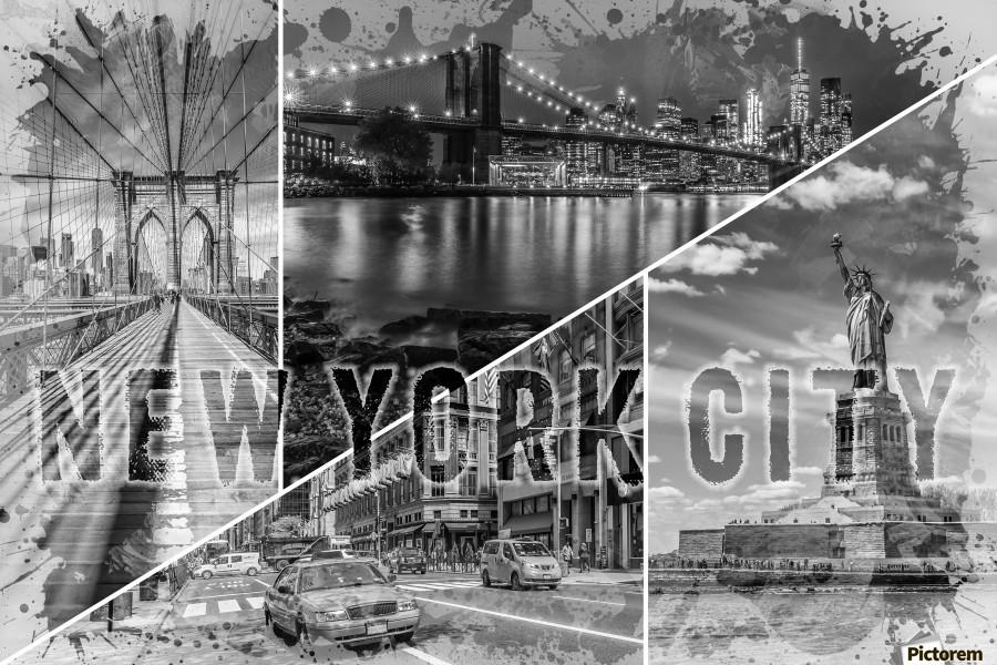 NEW YORK CITY Urban Collage No. 2  Print