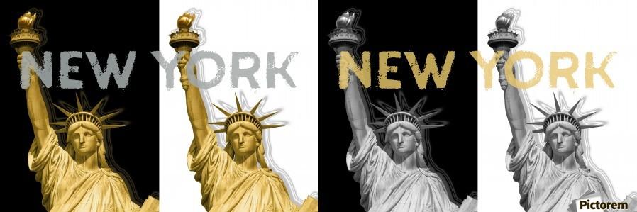 POP ART Statue of Liberty | New York New York | panoramic