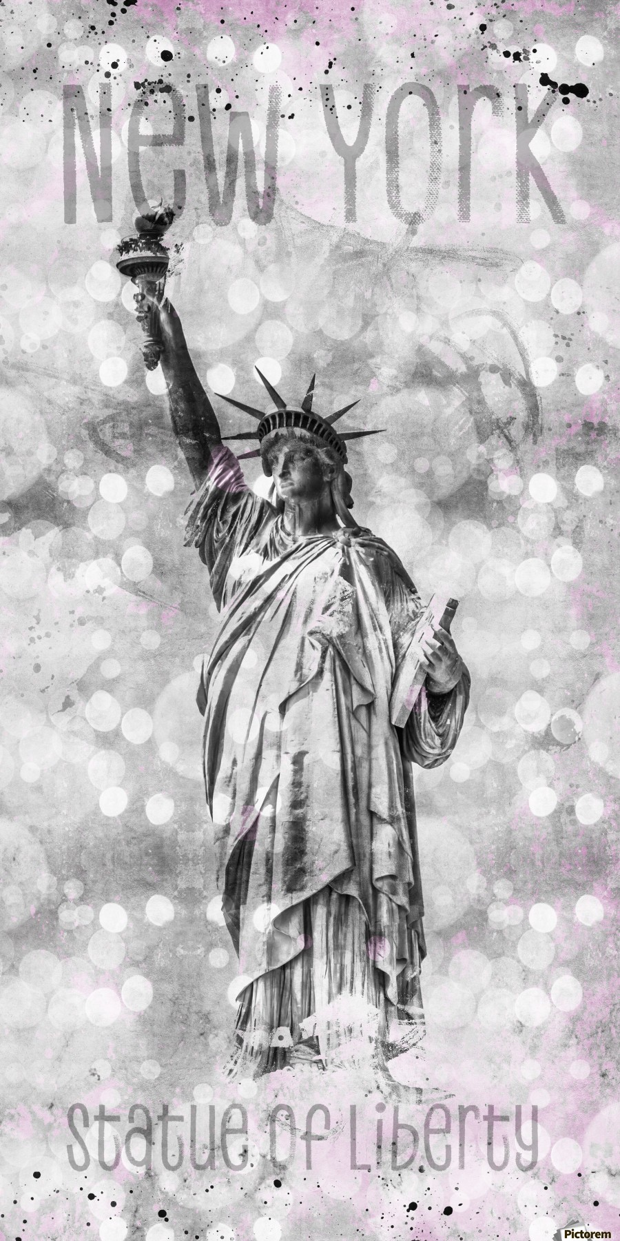 Graphic Art NEW YORK CITY Statue of Liberty  Print