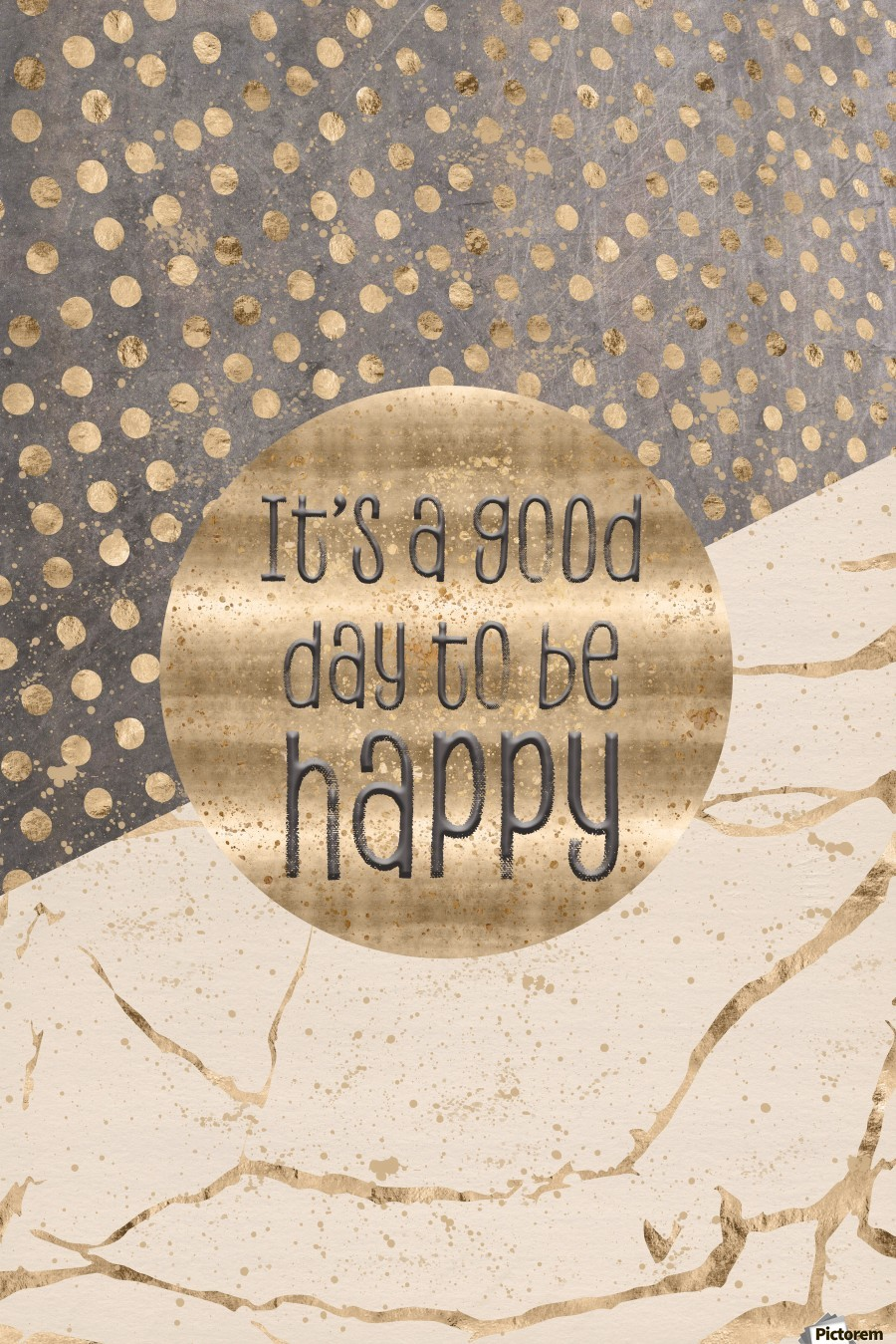 GRAPHIC ART It is a good day to be happy  Print