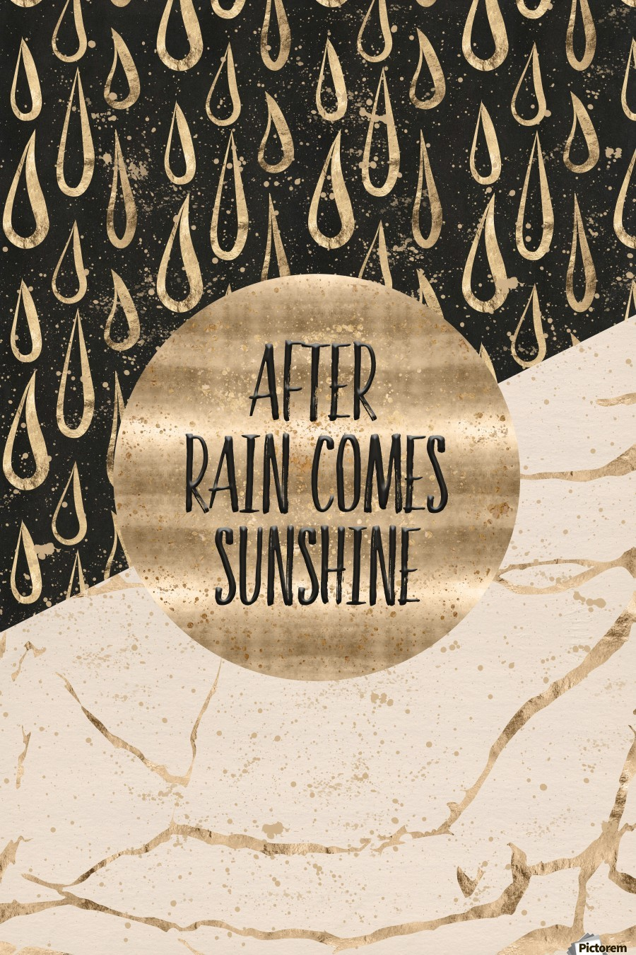 GRAPHIC ART After rain comes sunshine  Print