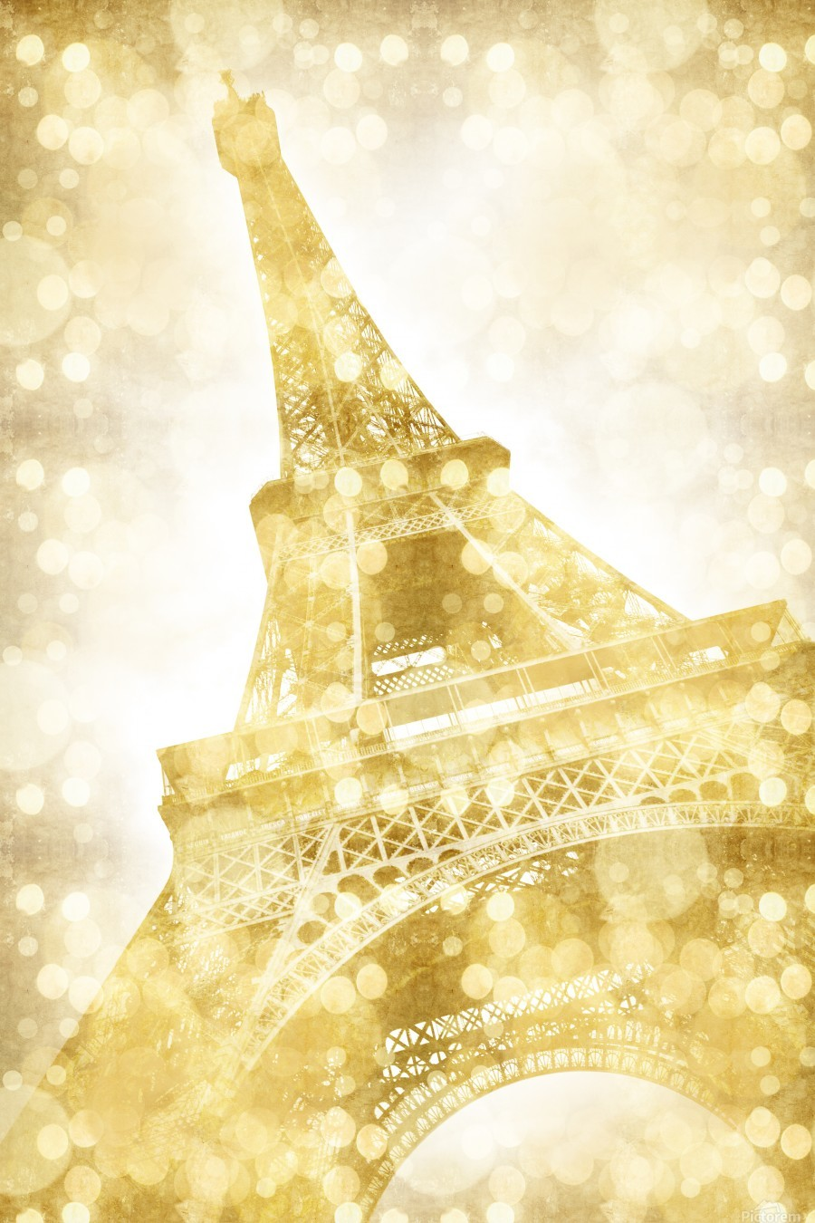 EIFFEL TOWER | golden illusion  Print