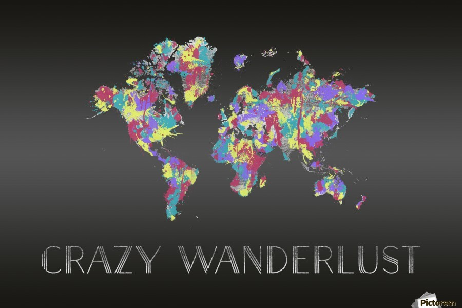 Graphic Art CRAZY WANDERLUST | Splashes  Print