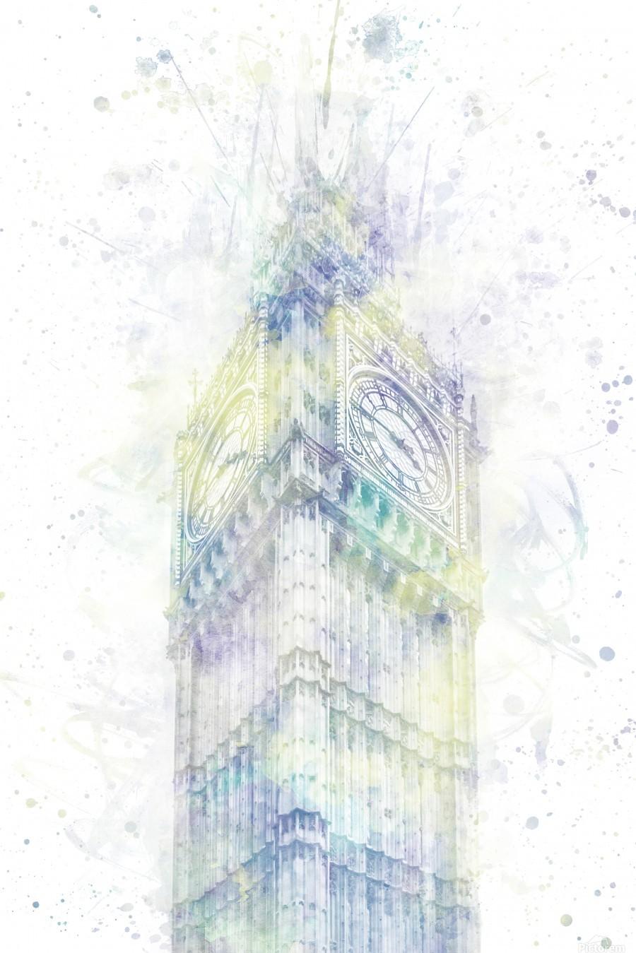 Modern Art BIG BEN | watercolor   Print