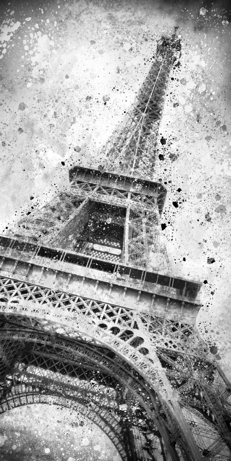 Monochrome Art EIFFEL TOWER   Print