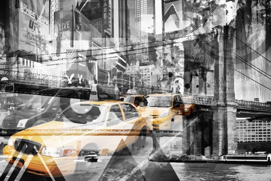 Modern Art NYC Collage  Print