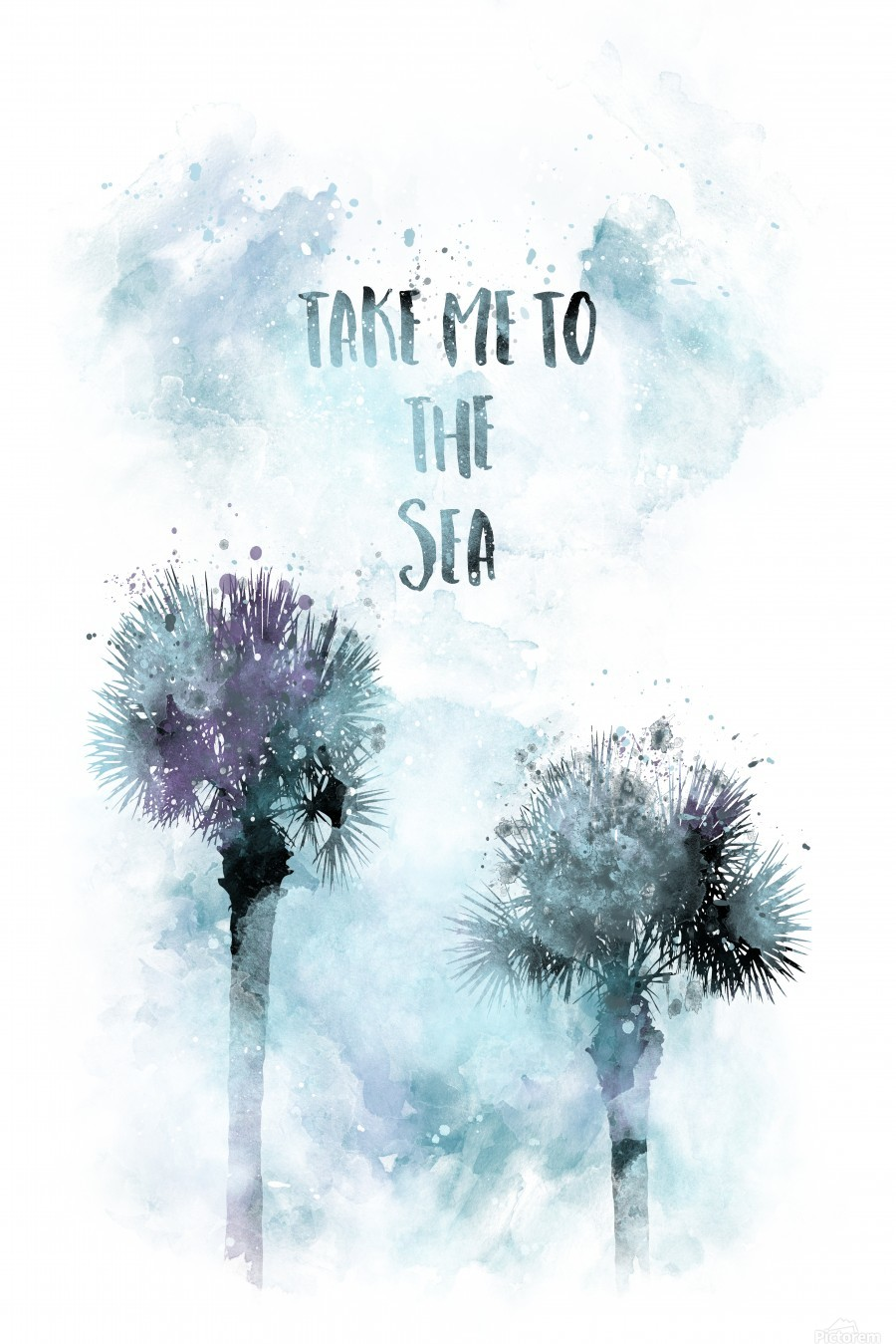 Modern Art TAKE ME TO THE SEA | jazzy watercolor  Print