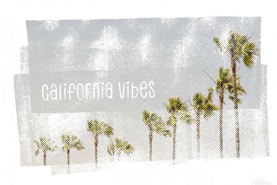 California Vibes   Vintage  Print