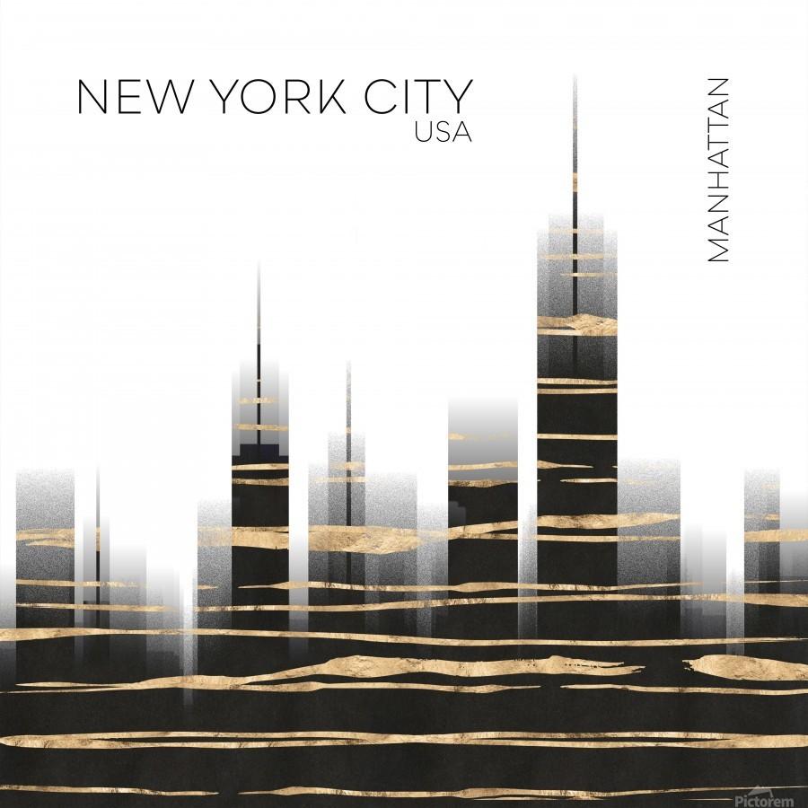 Urban Art NYC Skyline  Print