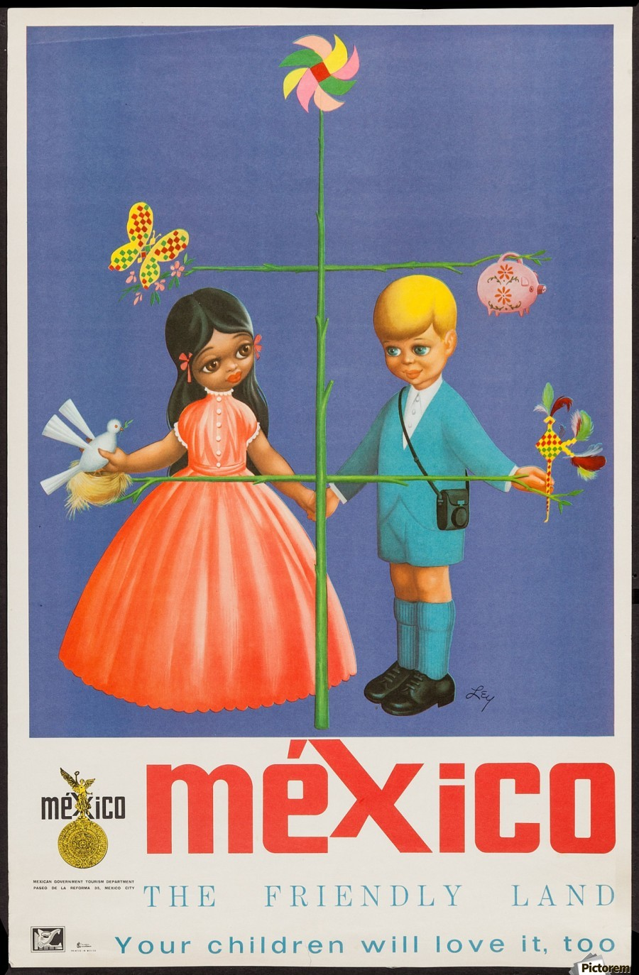 Mexico The friendly land  Print