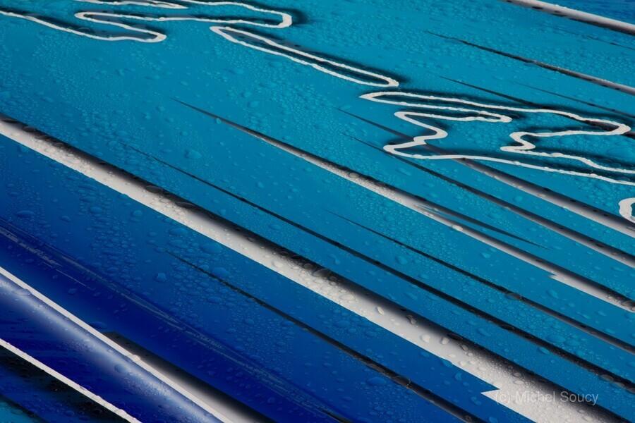 Diagonally Blue  Print