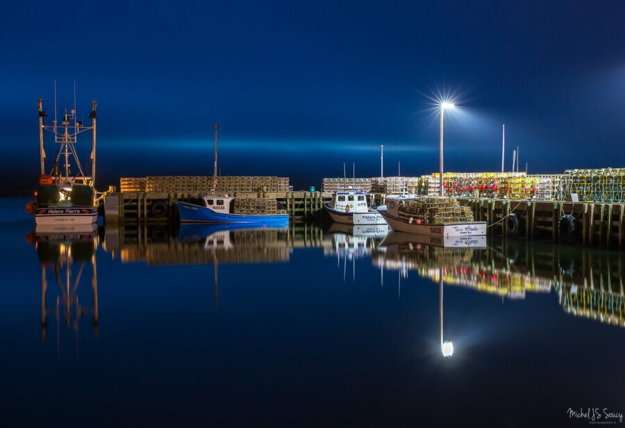 Night Time at the Wharf  Print