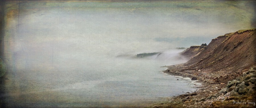 Fog in Grand Etang - Cape Breton  Print