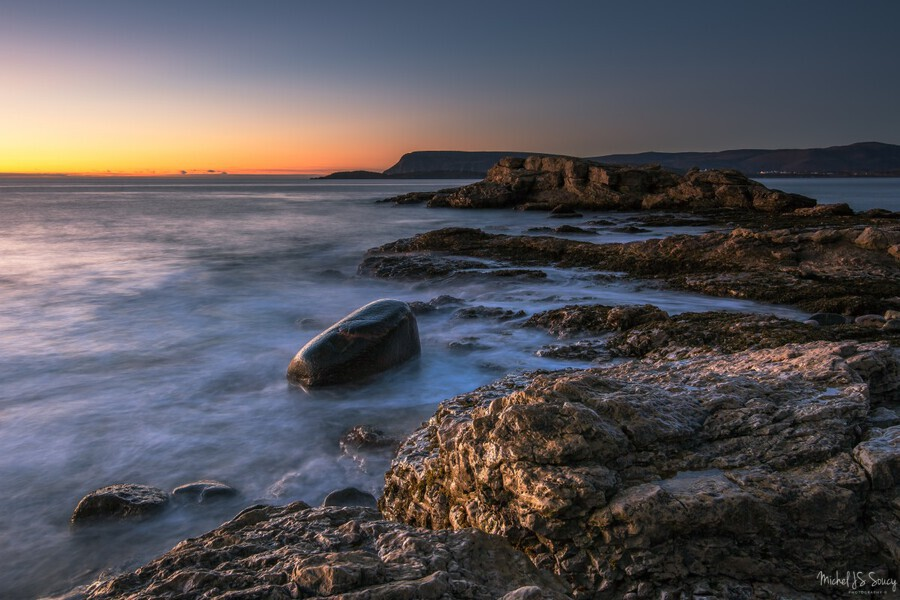 A New Dawn , Michel Soucy , Cabot Trail,cape breton,cape breton island,ingonish harbor,michel (mike) soucy,michel soucy,nova scotia,dawn,horizon,horizons,horizontals,long exposures,michelsoucy,nature,ocean,outdoors,rocks,rocky,sea,seascape,seascapes,shoreline,shorelines,smooth water,sunrise,surf,waves,white rocks