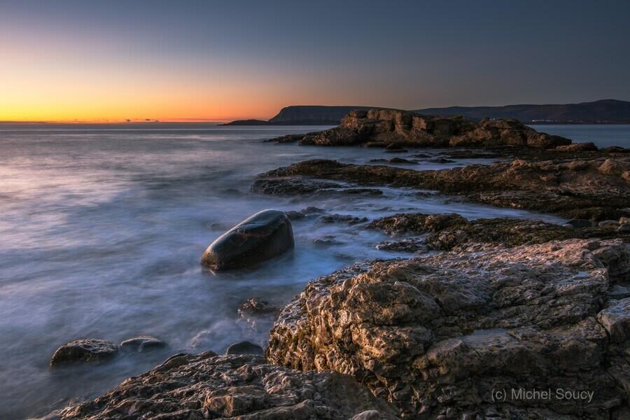 A New Dawn , Michel Soucy , Cabot Trail,cape breton,cape breton island,ingonish harbor,michel (mike) soucy,michel soucy,nova scotia,dawn,horizon,horizons,horizontals,long exposures,michelsoucy,nature,ocean,outdoors,rocks,rocky,sea,seascape,seascapes,shoreline,shorelines,smooth water,sunrise,surf,waves,white rocks