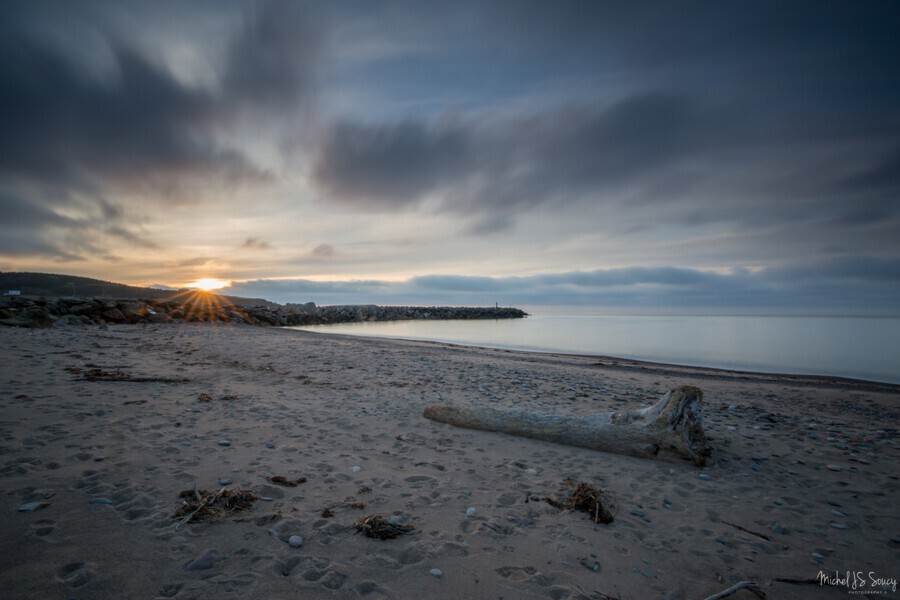 Goodnight Belle Cote , Michel Soucy , Michel Soucy,michelsoucy,Cape Breton Island,Margaree Harbor,Margaree Harbour,Nova Scotia,beach,beaches,clouds,entrance,jetty,long exposures,ocean,outdoors,rocks,sea,seascape,smooth water,sunset,surf,water,waves,