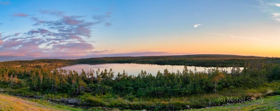 French Lake Sunset  Print