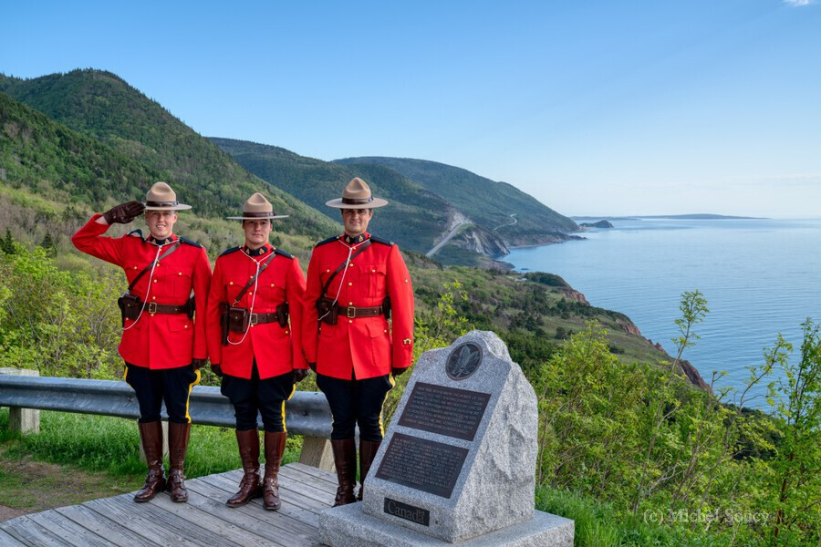 RCMP on French Mountain  Print