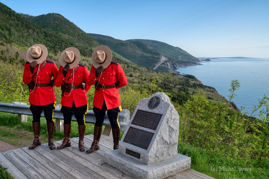Respect and Honour - RCMP on French Mountain  Print