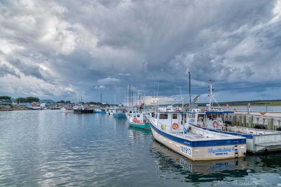 Approaching Storm Clouds - Cheticamp Harbour  Print