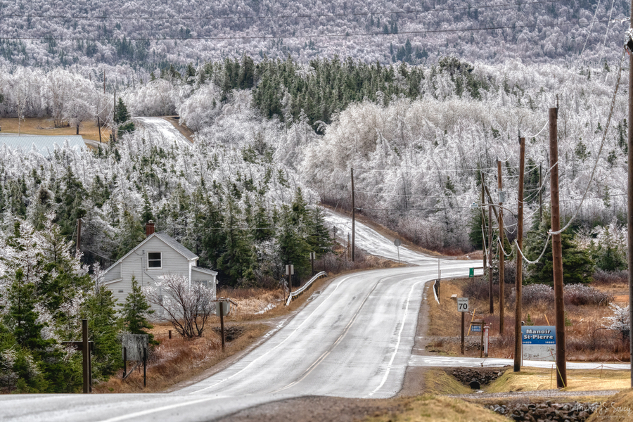 Cheticamp Ice Storm  Print