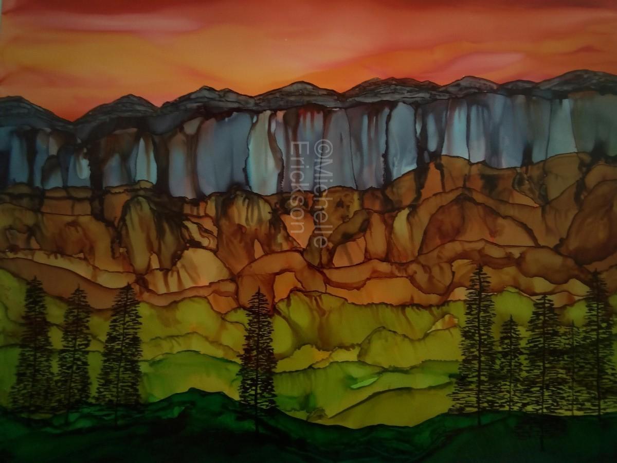 Weeping Cliffs  Print