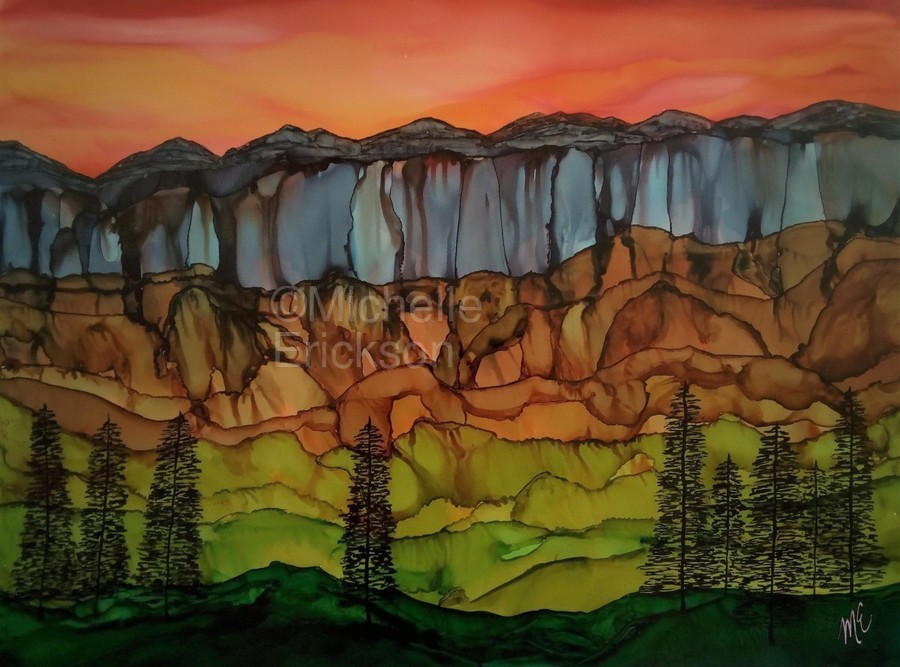Weeping Cliffs  Print