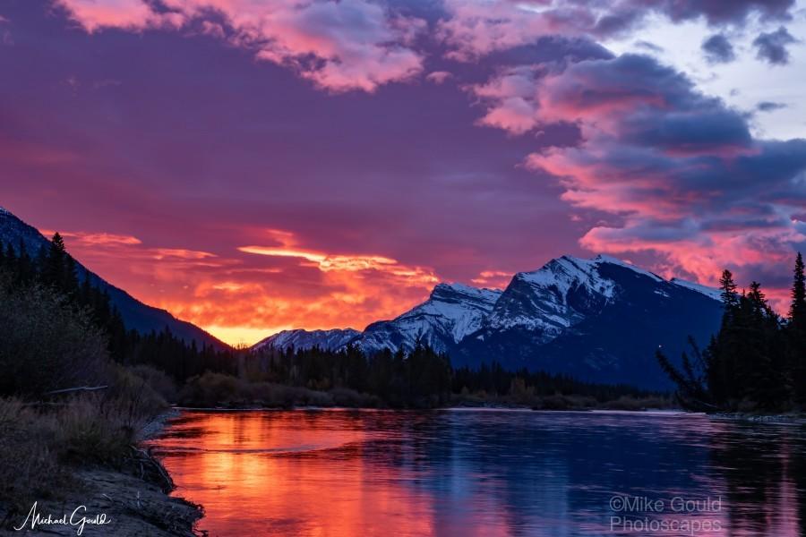 Bow River Sunrise East  Print