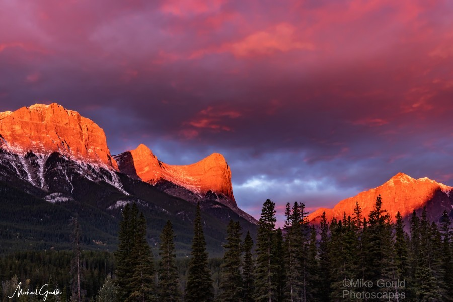 Ha Ling Mountain Range Sunrise  Print