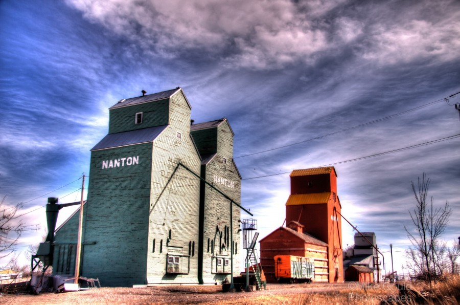 Grain Elevators in Nanton Alberta  Print
