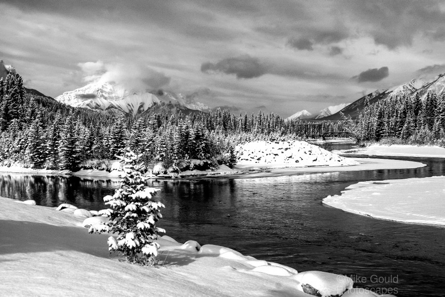 Snowy Bow River Canmore Alberta  Print