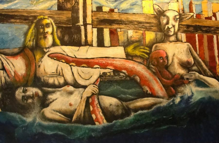 Baptism by the Brooklyn Bridge  Print