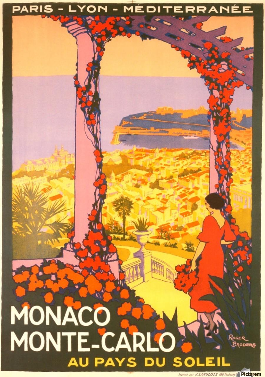 Monaco Monte Carlo 1920 Vintage Poster Vintage Poster Canvas
