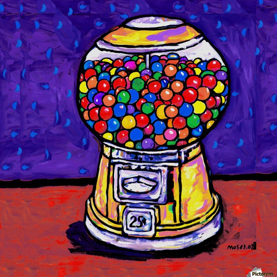 BUBBLE GUM MACHINE  Print