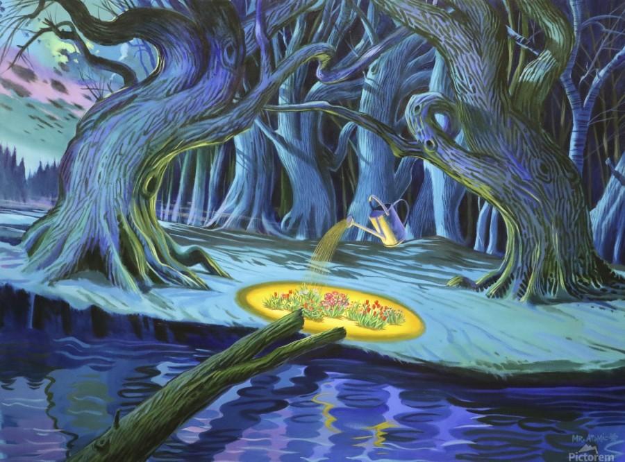 Mystic Flower Garden  Print