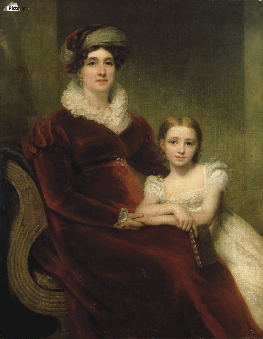 Mrs.Alexander Allan with her granddaughter  Print