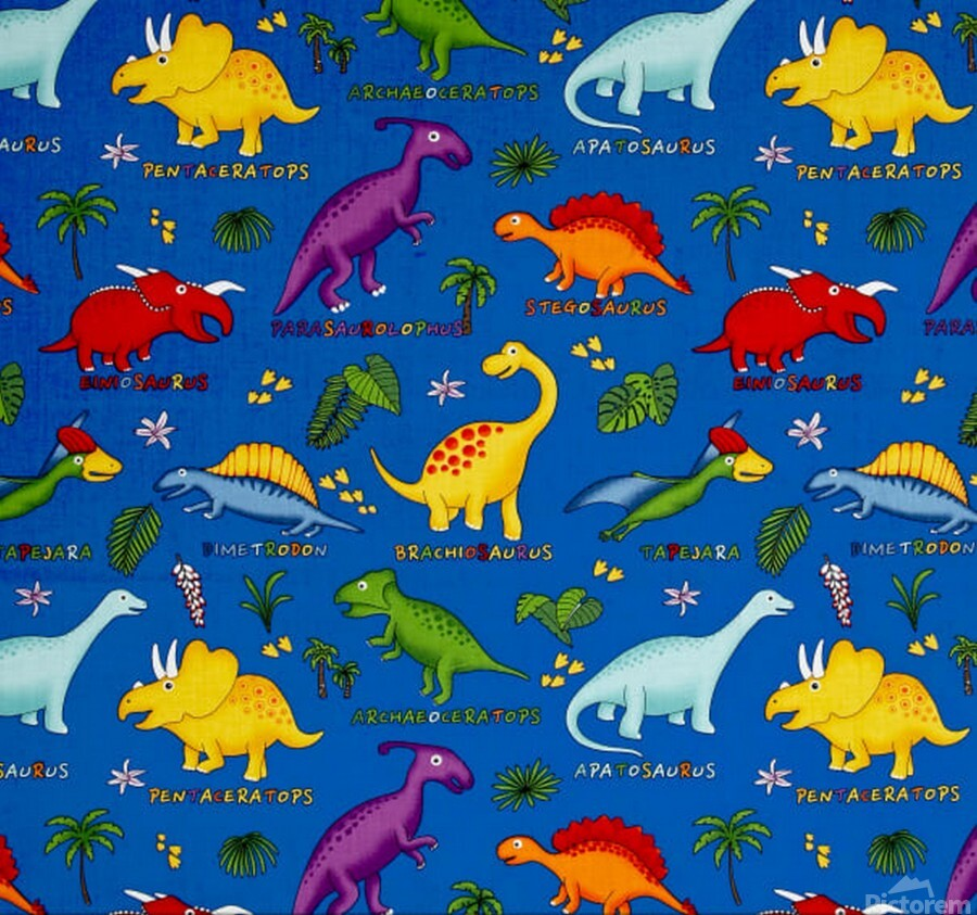 Dinosaurs Royal-Multi  Print