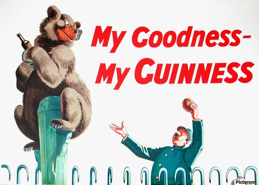 My goodness my guinness poster - VINTAGE POSTER - Canvas