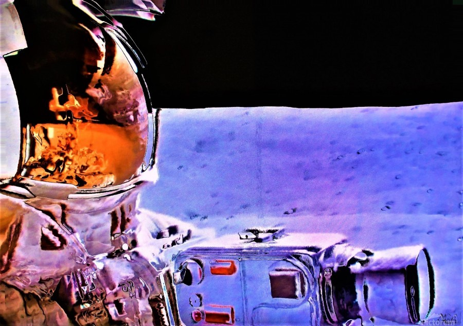 Historic Photography on the Moon - by Neil Gairn Adams  Print