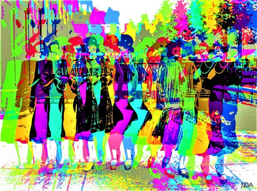 Party Girls -  by Neil Gairn Adams   Print