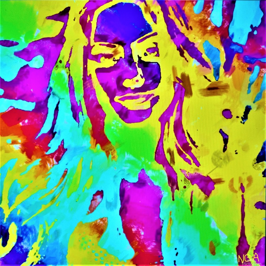 Abstract Girl - by Neil Gairn Adams  Print