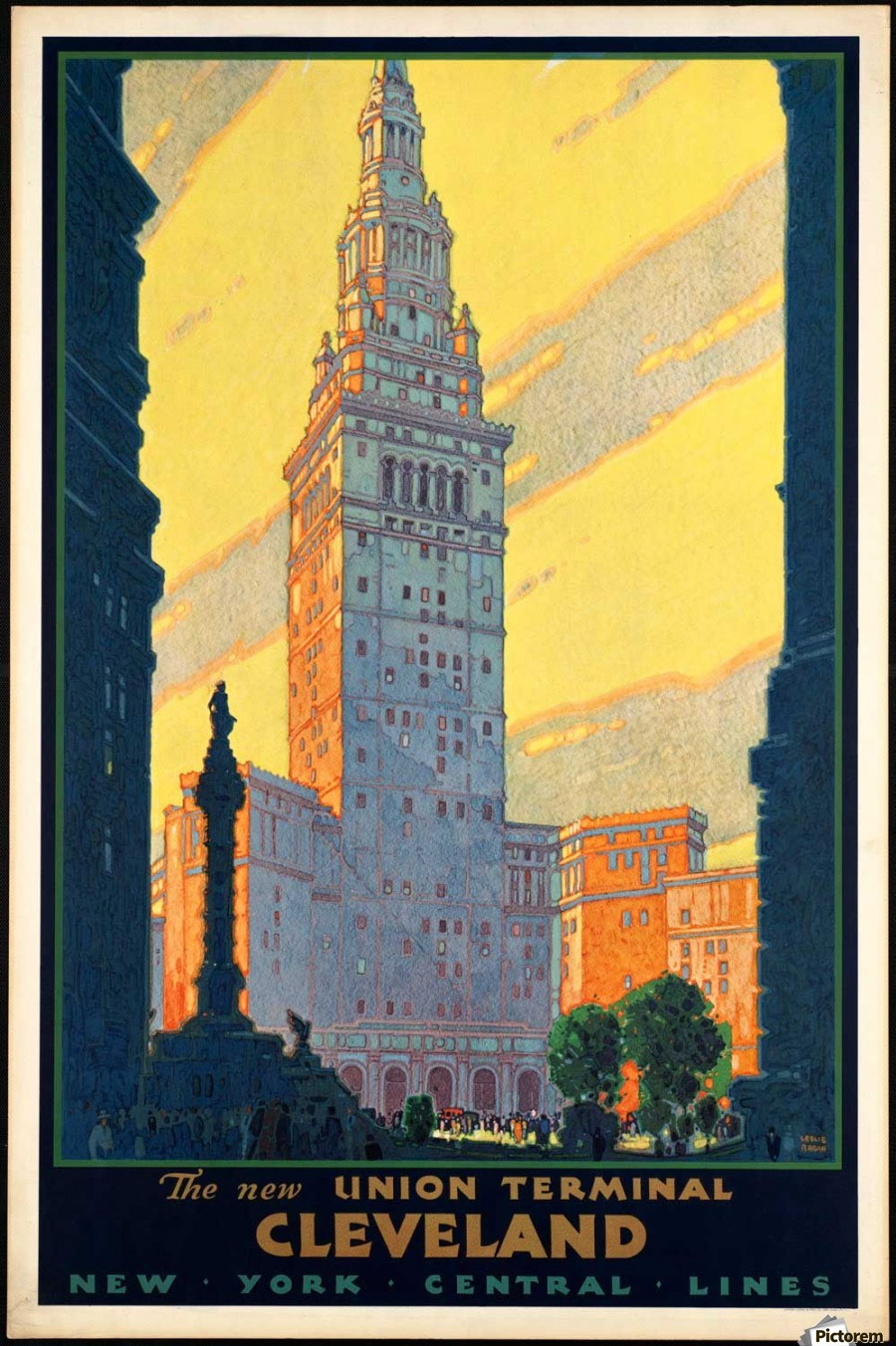 New York The New Union Terminal Cleveland Vintage Poster - VINTAGE ...