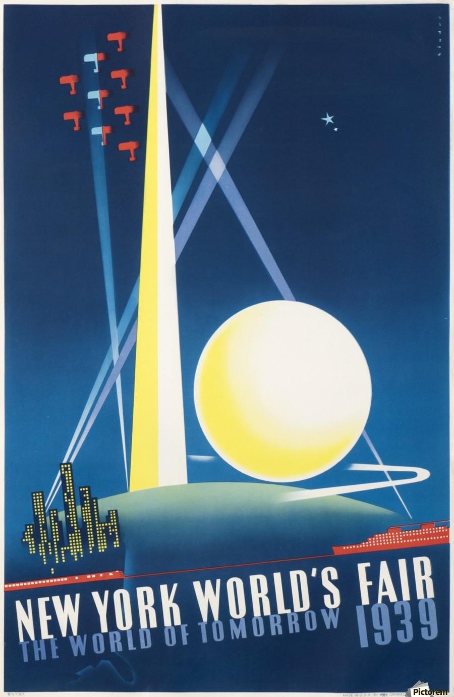 New York World Fair 1939 Original Poster Vintage Poster