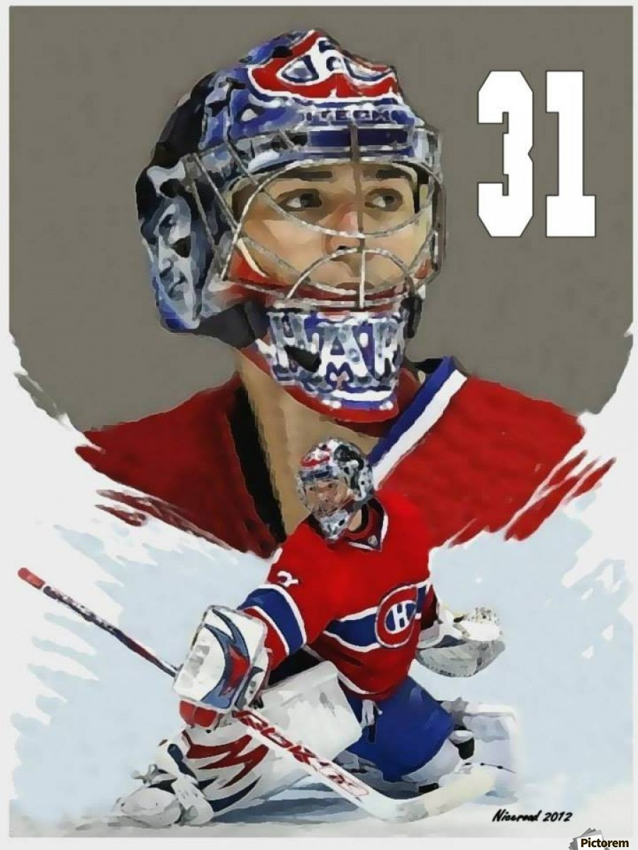 Carey Price portrait  Print