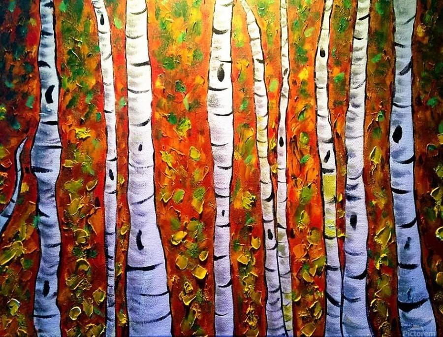 Funky Fall Birch  Print